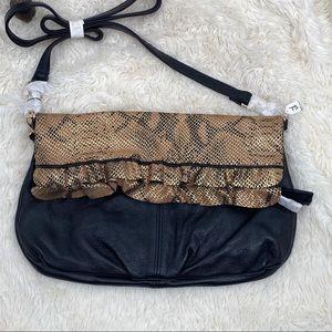 Buxton B Collection leather purse handbag black